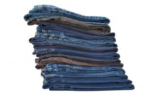 B&V pile of jeans
