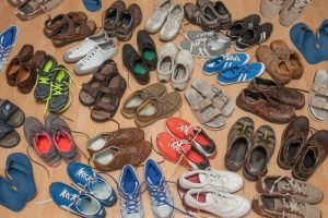 Assorted used vintage and second hand shoes for sale