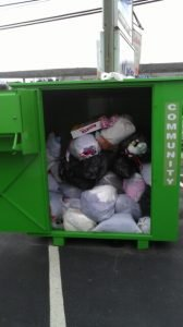 Credential clothing donation bin Bank & Vogue