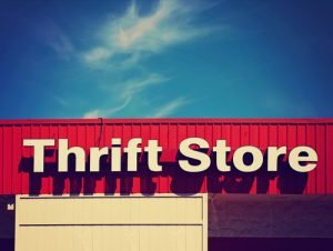 Thrift Store for used clothing storefront