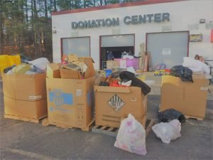 Used goods donation center
