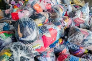 bags of old clothing