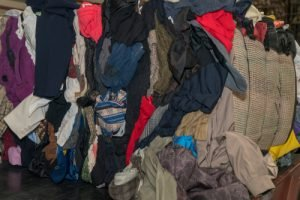 mixed rags or mixed institutional rags in bulk clothing