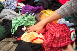 mixed rags used clothing