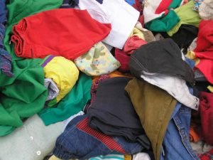 used clothing mixed industrial rags