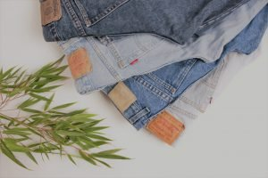 denim jeans as part of recycling in circular economy