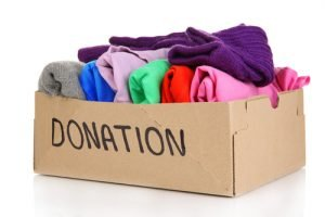 box of clothes for donation