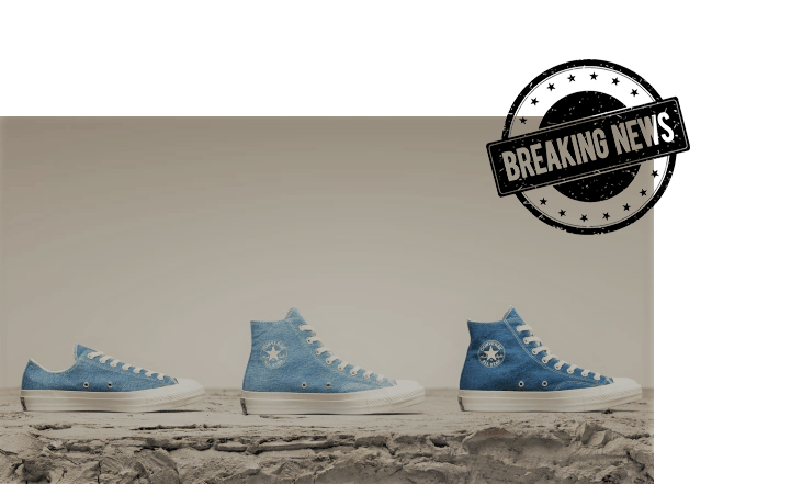 discarded jeans make new sneakers