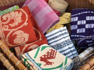 used fabric upcycled into kimono