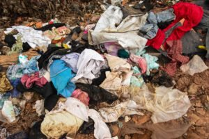 used clothing in landfill