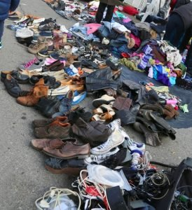used clothing thrown away