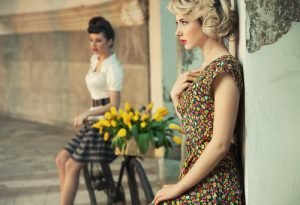 women wearing retro fashion