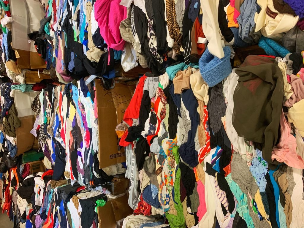 used clothing mixed rags