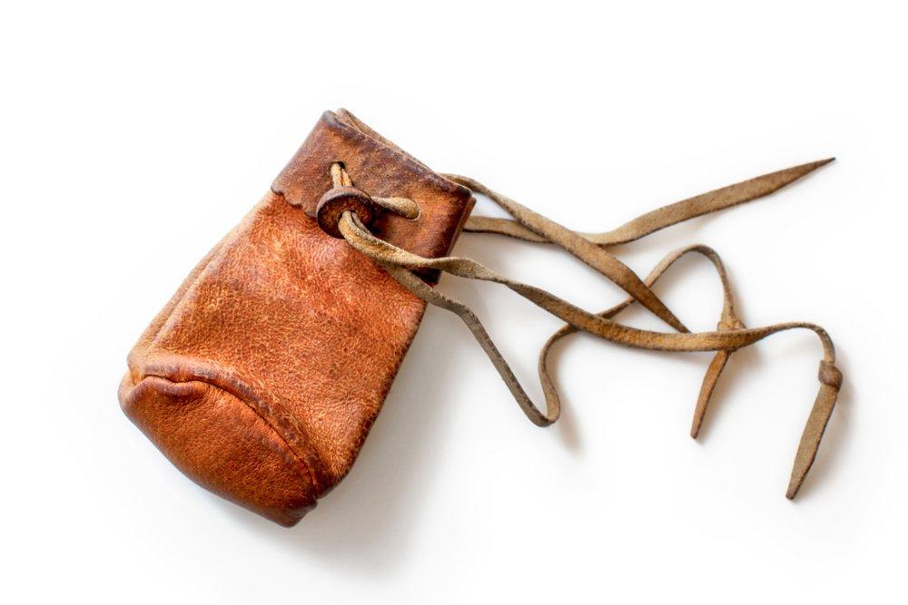 vintage used handbag