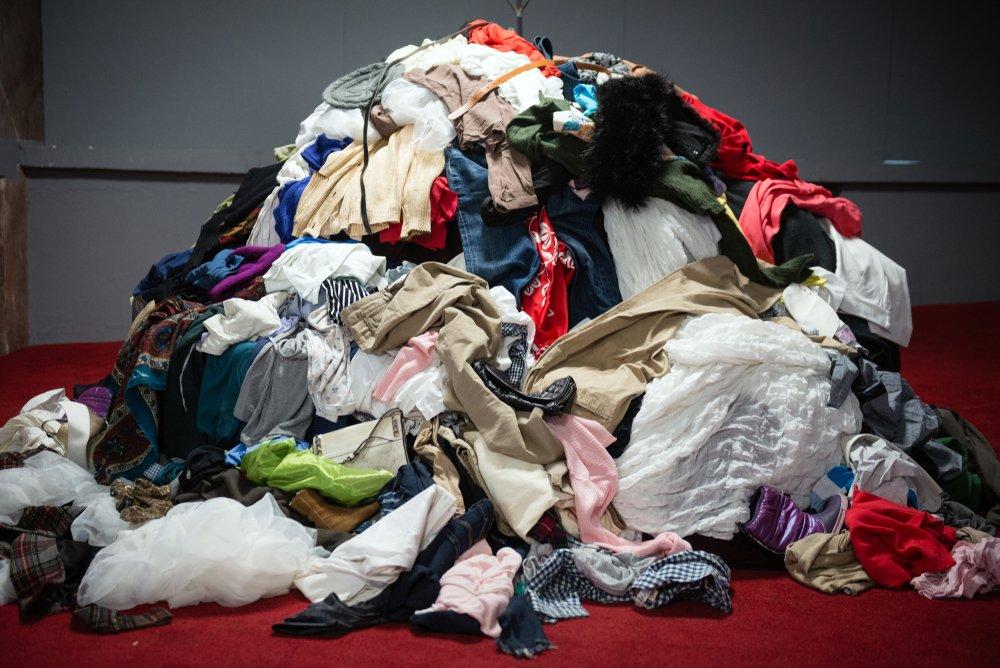 pile of used clothing