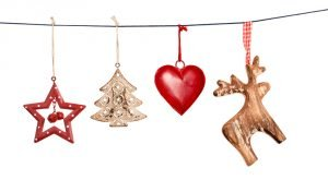 christmas decorations on string