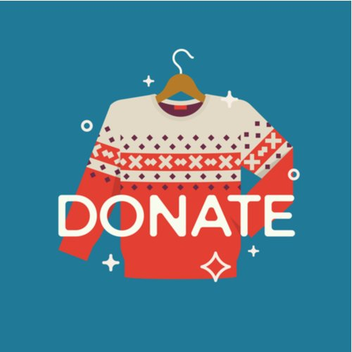 illustration of sweater for donation